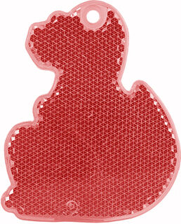 Reflector dino 56x70mm red