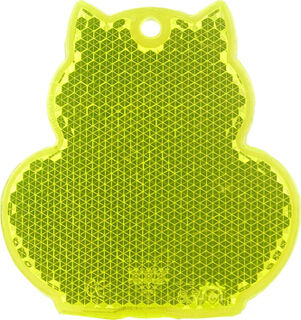 Reflector cat 57x59mm yellow