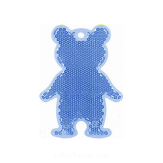 Reflector bear 51x70mm blue