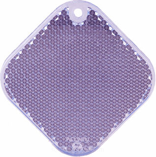 Reflector square 63x63mm purple