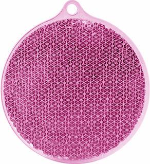 Reflector round 55x61mm pink