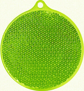 Reflector round 55x61mm green