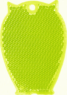 Reflector owl 46x65mm yellow