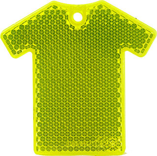 Reflector T-shirt 64x63mm yellow